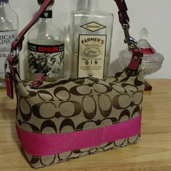Coach Handbags - Coach signature and pink small handbag